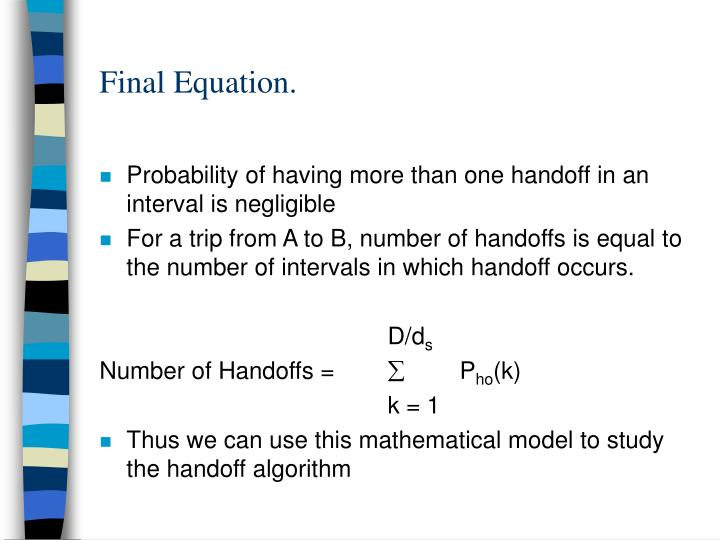 Final Equation.