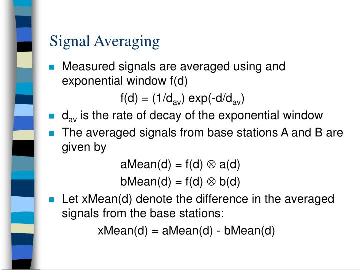 Signal Averaging