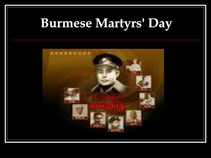 Burmese Martyrs' Day
