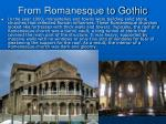 from romanesque to gothic