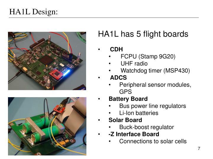 HA1L Design: