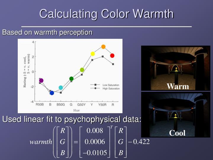 Calculating Color Warmth
