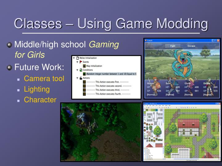 Classes – Using Game Modding