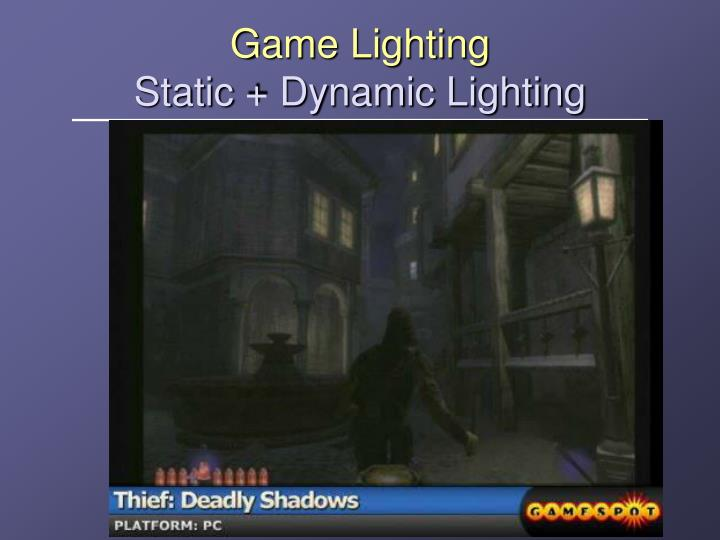 Game Lighting