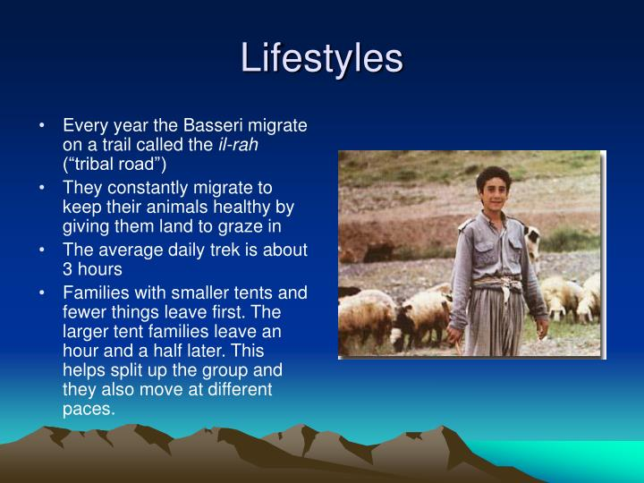 Every year the Basseri migrate on a trail called the