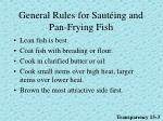 general rules for saut ing and pan frying fish