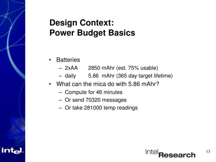 Design Context: