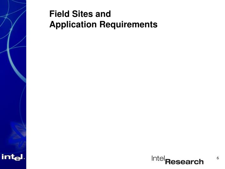 Field Sites and