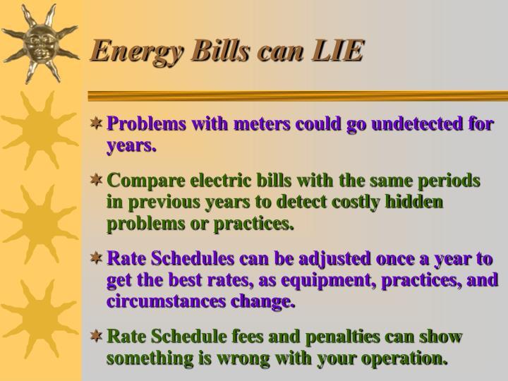 Energy Bills can LIE