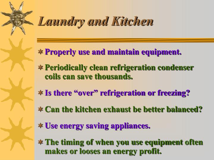 Laundry and Kitchen