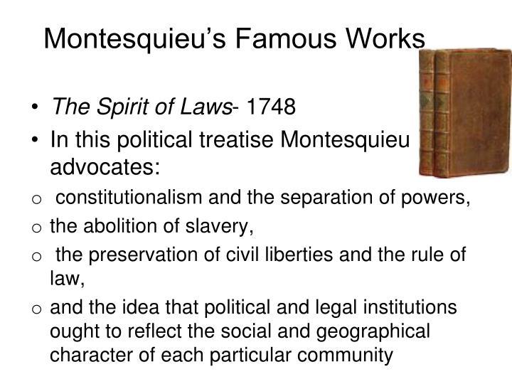 Montesquieu's Famous Works