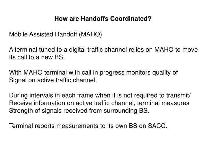 How are Handoffs Coordinated?