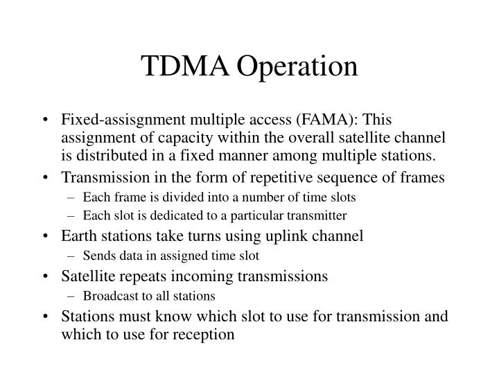 TDMA Operation