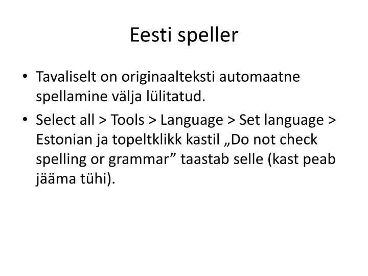 Eesti speller