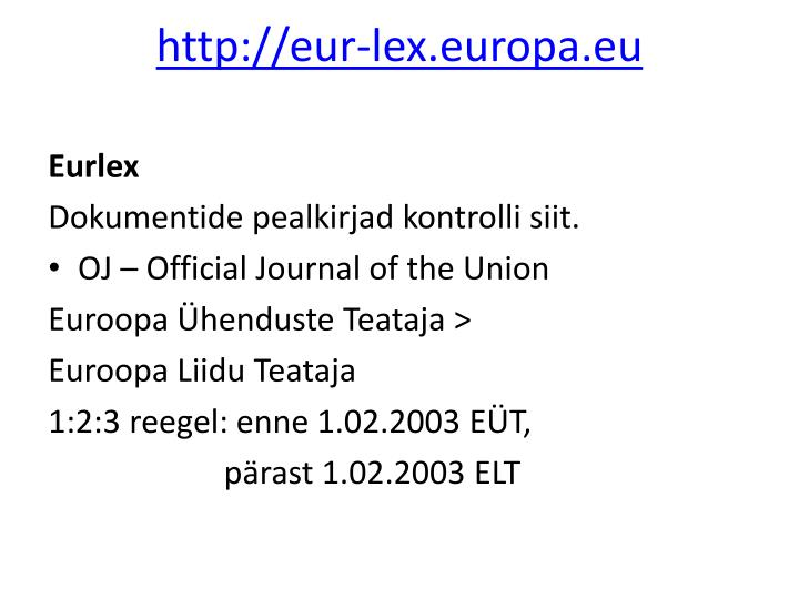 http://eur-lex.europa.eu