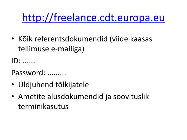 http://freelance.cdt.europa.eu