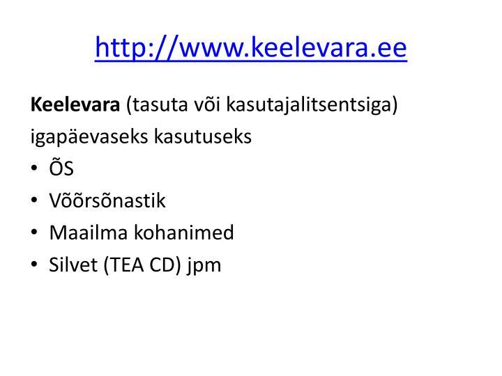http://www.keelevara.ee