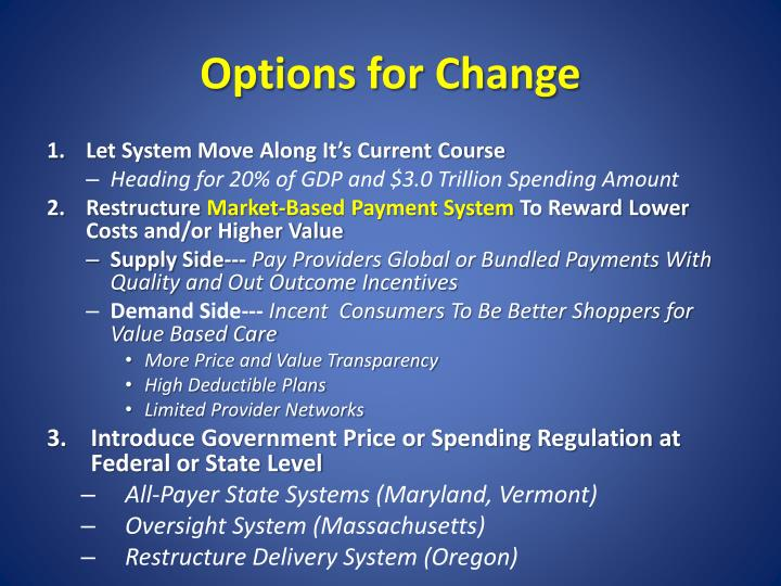 Options for Change