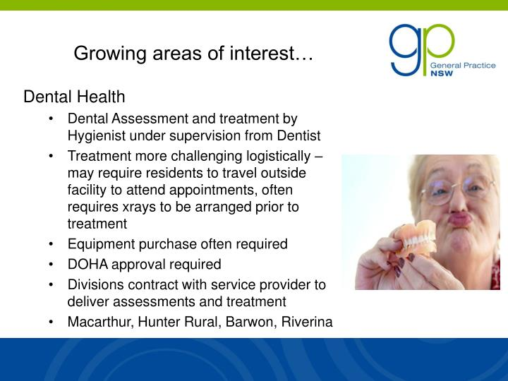 Growing areas of interest…