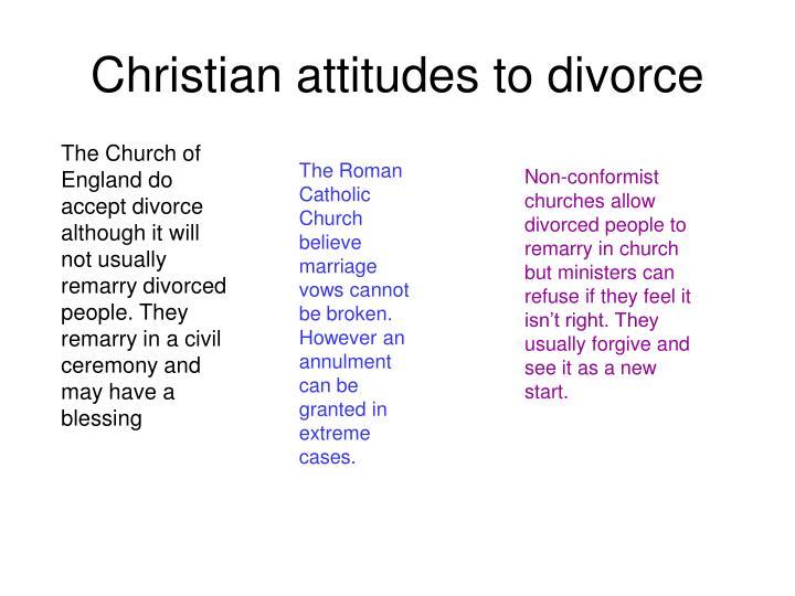 Christian attitudes to divorce