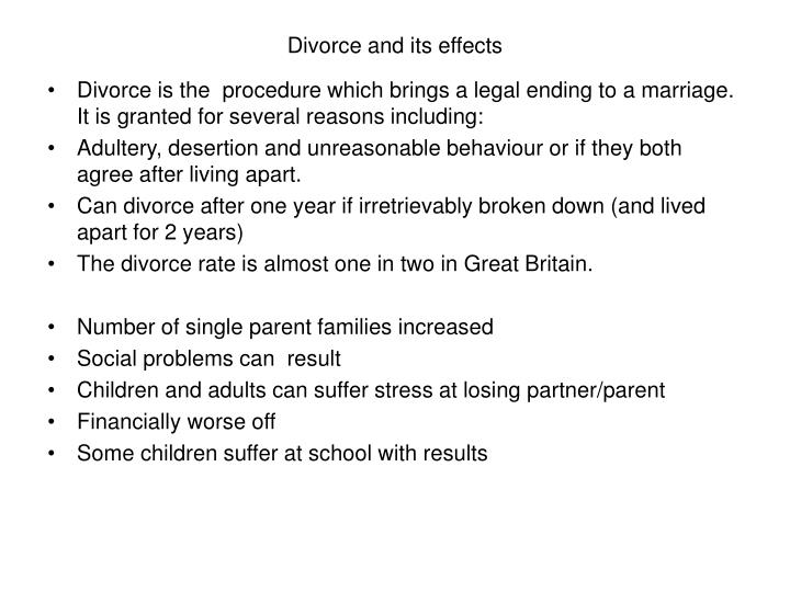 Divorce and its effects