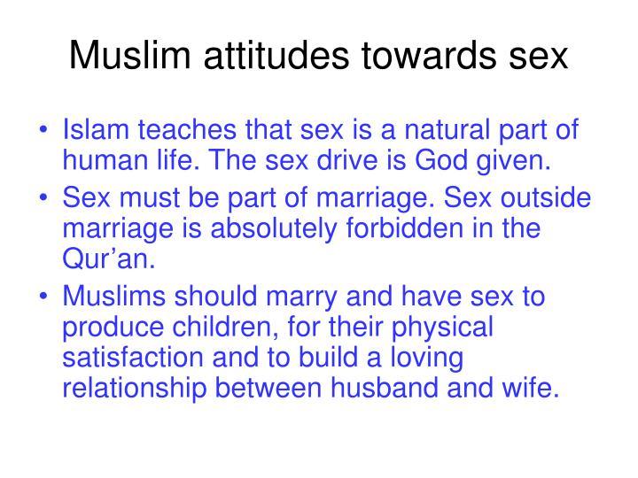 Muslim attitudes towards sex