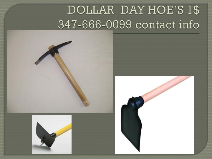 Dollar day hoe s 1 347 666 0099 contact info