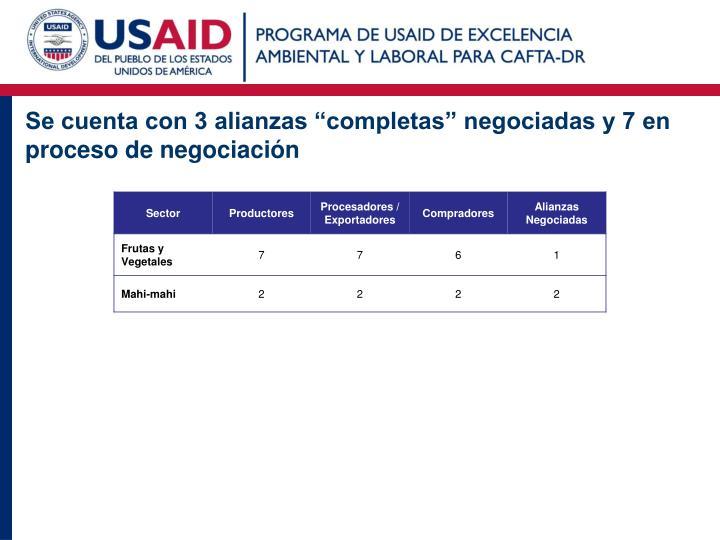 """Se cuenta con 3 alianzas """"completas"""" negociadas y 7 en proceso de negociación"""