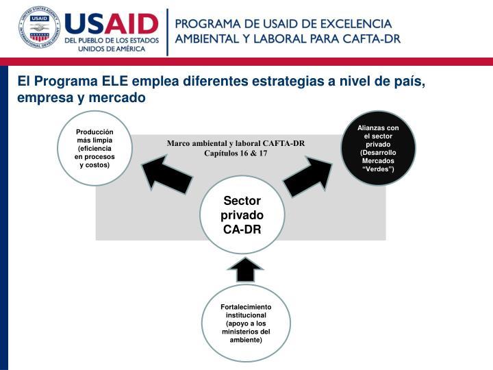 El Programa ELE emplea diferentes estrategias a nivel de país, empresa y mercado