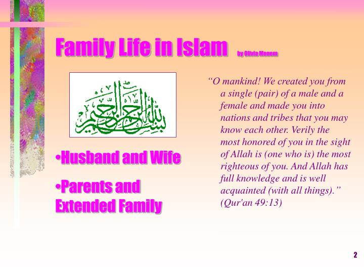 Family life in islam by olivia monem