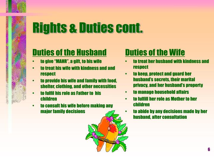 Duties of the Husband
