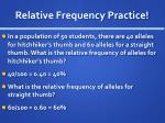 relative frequency practice