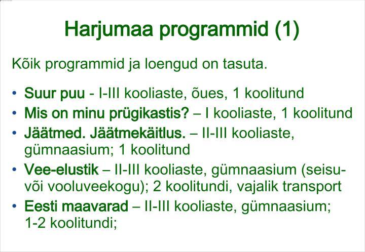 Harjumaa programmid (1)