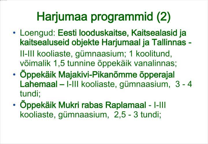 Harjumaa programmid (2)