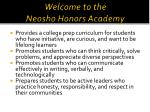 welcome to the neosho honors academy