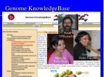 genome knowledgebase