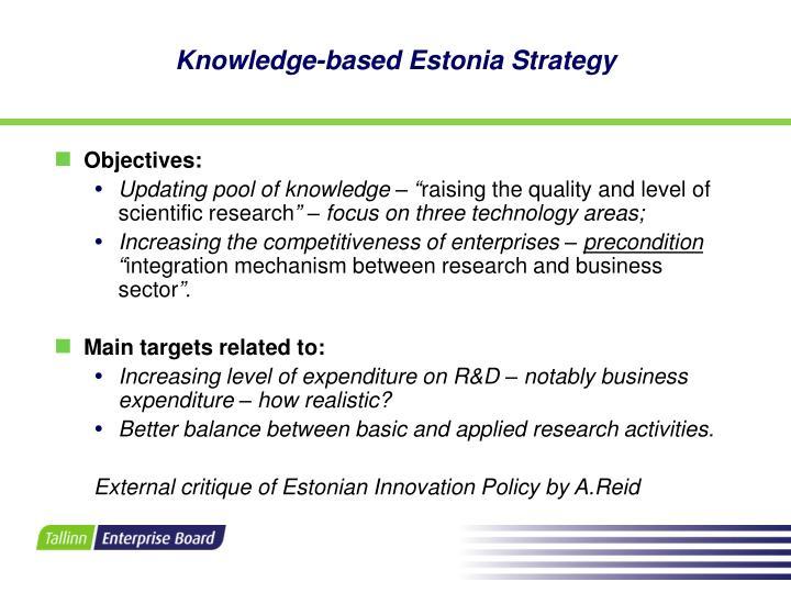 Knowledge-based Estonia Strategy