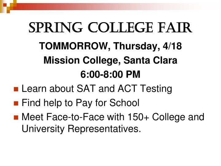 Spring College Fair