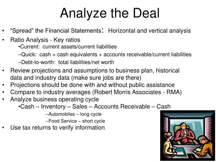 Analyze the Deal