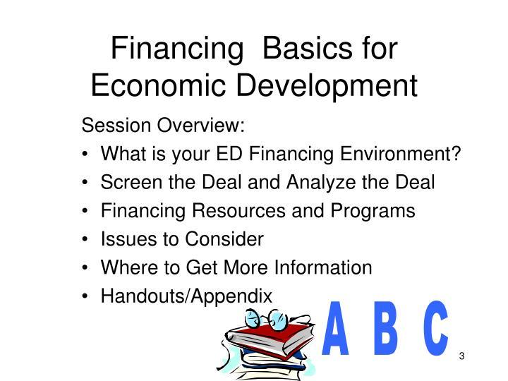 Financing basics for economic development