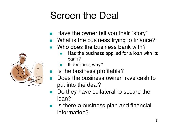 Screen the Deal