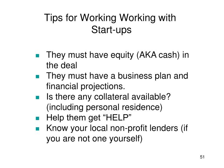 Tips for Working Working with