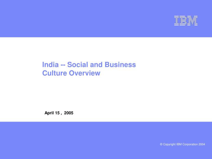 india social and business culture overview n.