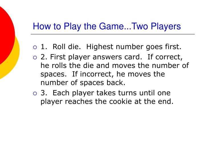 How to play the game two players
