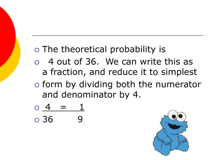 The theoretical probability is