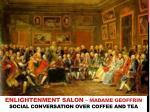 enlightenment salon madame geoffrin social conversation over coffee and tea