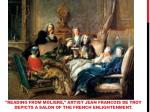 reading from moliere artist jean francois de troy depicts a salon of the french enlightenment