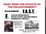 what were the effects of the enlightenment