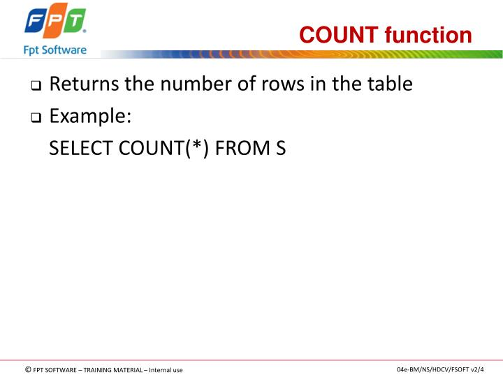 COUNT function