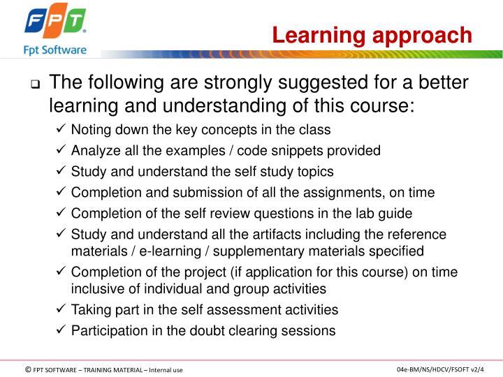 Learning approach